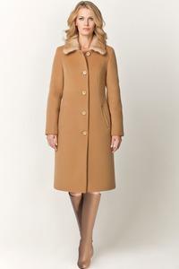 Зимнее шерстяное пальто с мехом норки арт.403